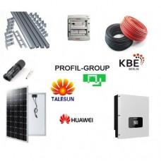 Комплект солнечной электростанции (СЭС) 8кВт инвертор Huawei + панели Talesun