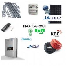 Комплект солнечной электростанции (СЭС) 30кВт инвертор Azzurro + панели Ja Solar