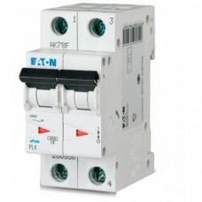Автоматический выключатель EATON PL4 C20 2p (293143)