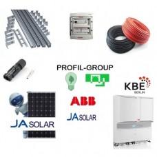 Комплект  солнечной электростанции (СЭС) 10кВт инвертор ABB + панели Ja Solar