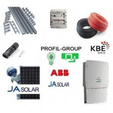 Комплект солнечной электростанции (СЭС) 30кВт инвертор ABB + панели Ja Solar