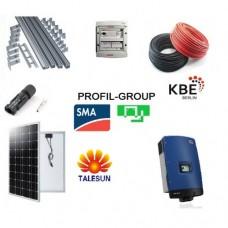 Комплект солнечной электростанции (СЭС) 10кВт инвертор SMA + панели Talesun