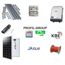 Комплект солнечной электростанции (СЭС) 10кВт инвертор Fronius + панели Ja Solar