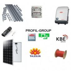 Комплект солнечной электростанции (СЭС) 10кВт инвертор Fronius + панели Talesun
