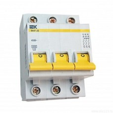 Автоматический выключатель IEK ВА47-100 C25 3Р