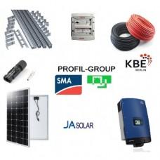Комплект солнечной электростанции (СЭС) 10кВт инвертор SMA + панели Ja Solar